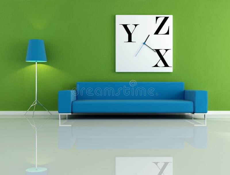 Download зеленая комната иллюстрация штока. иллюстрации насчитывающей часы - 6863211