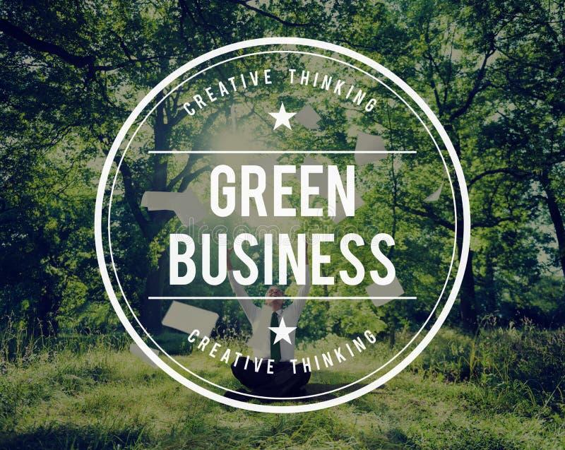 Зеленая концепция окружающей среды экологичности земли дела стоковая фотография rf