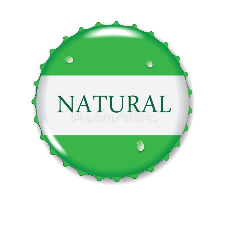 Зеленая крышка бутылки бесплатная иллюстрация
