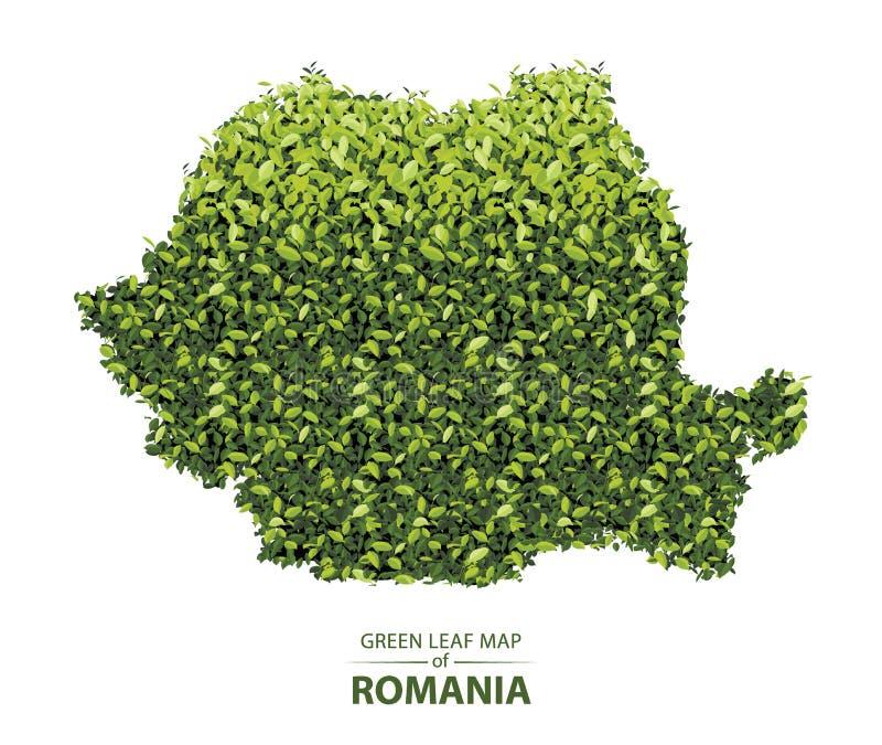 Зеленая листвая карта романии векторная иллюстрация леса является концепцией бесплатная иллюстрация