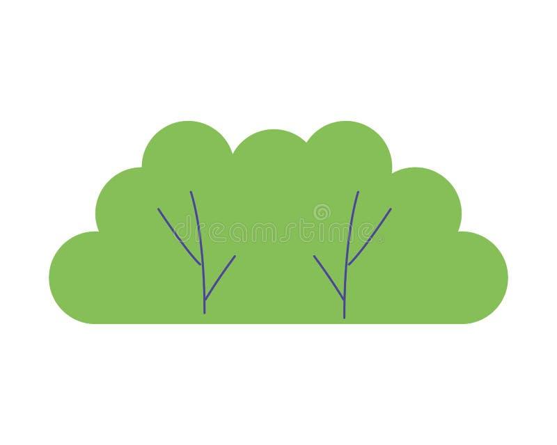 Зеленая листва природы леса куста иллюстрация штока