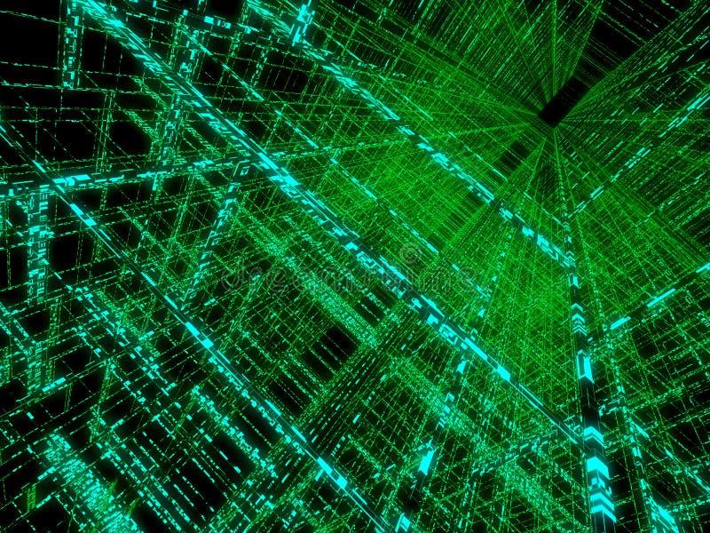 зеленая матрица иллюстрация штока