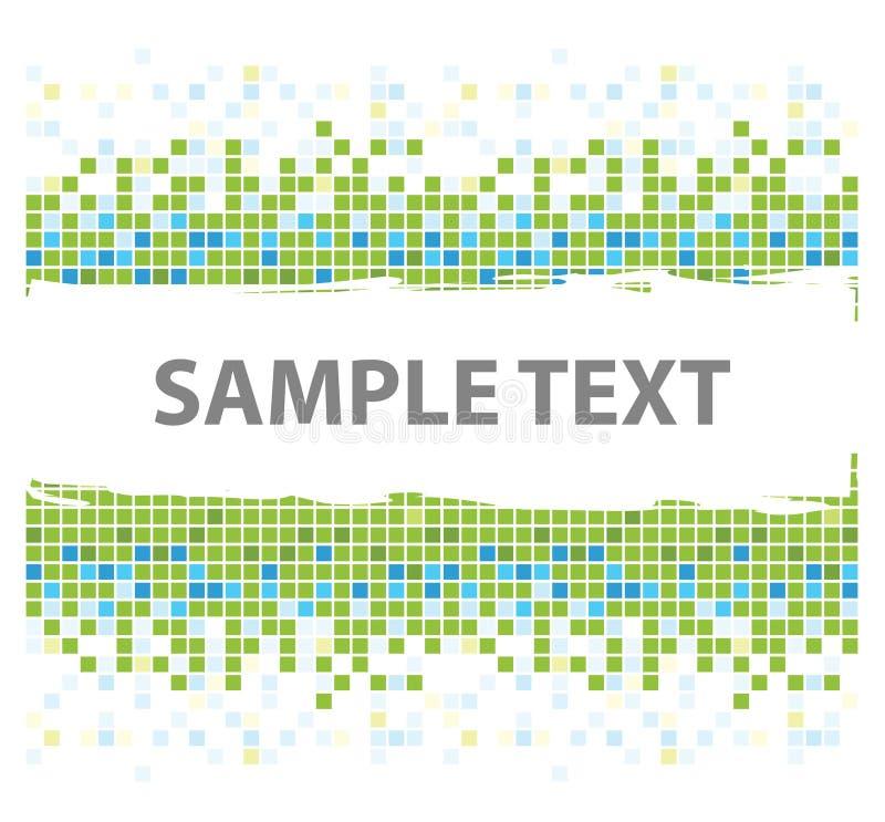 зеленая мозаика придает квадратную форму текстуре иллюстрация штока