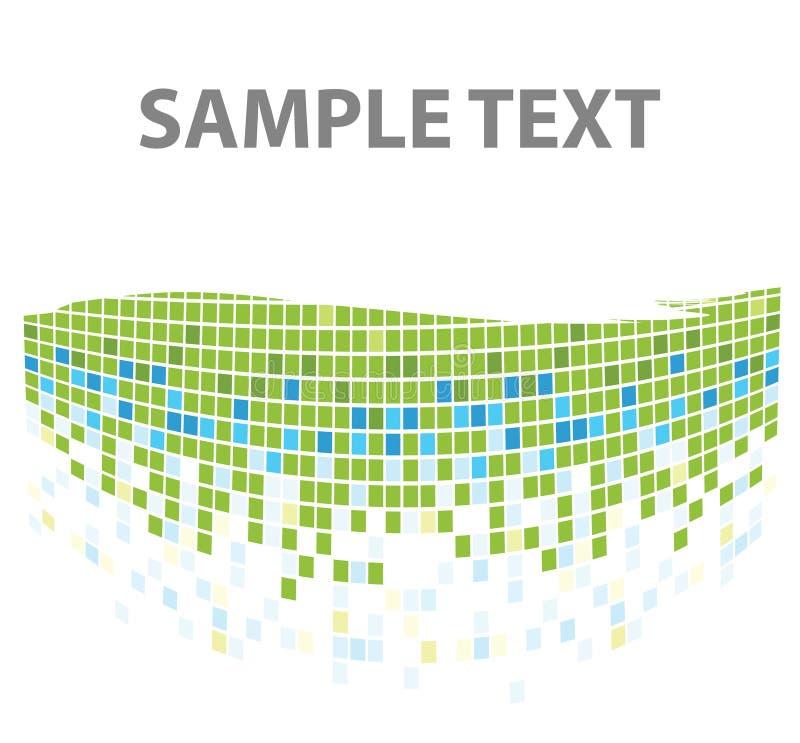 зеленая мозаика придает квадратную форму текстуре иллюстрация вектора