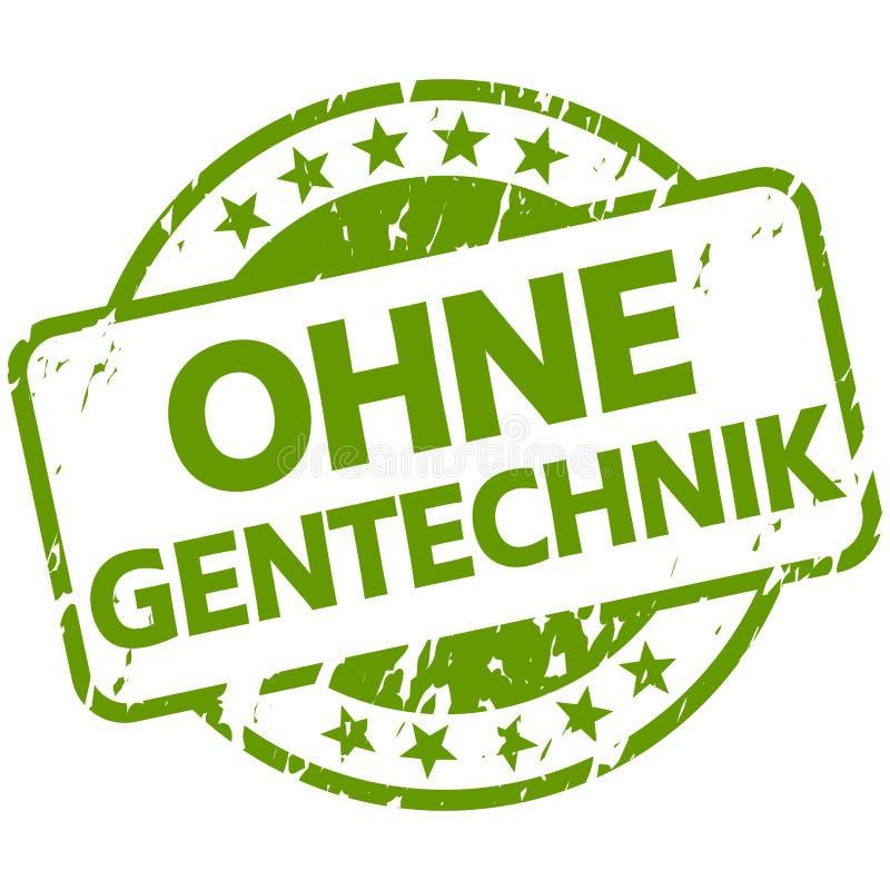 зеленая печать со знаменем без генной инженерии ( на немецком бесплатная иллюстрация