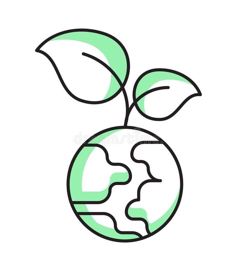 Зеленая планета Завод и земля стоковое фото rf