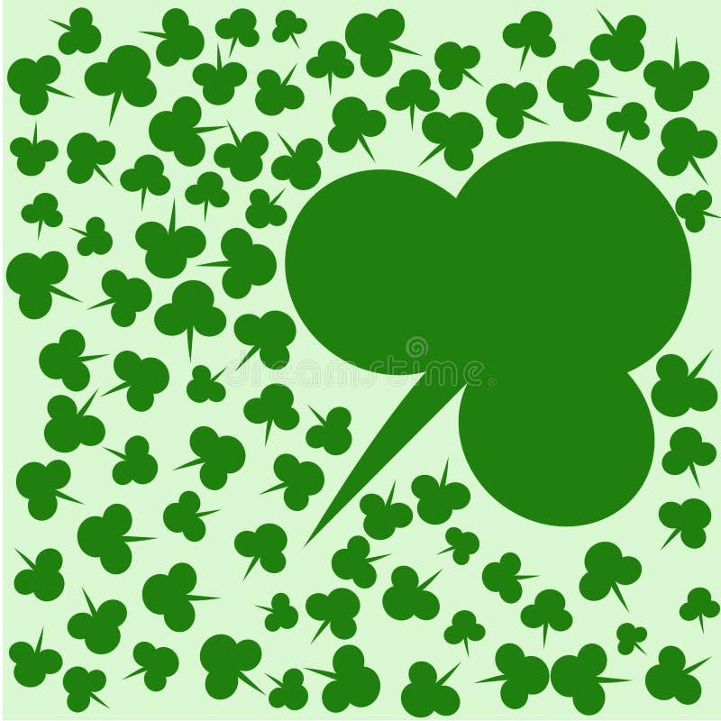Зеленая предпосылка клевера на день St. Patrick бесплатная иллюстрация
