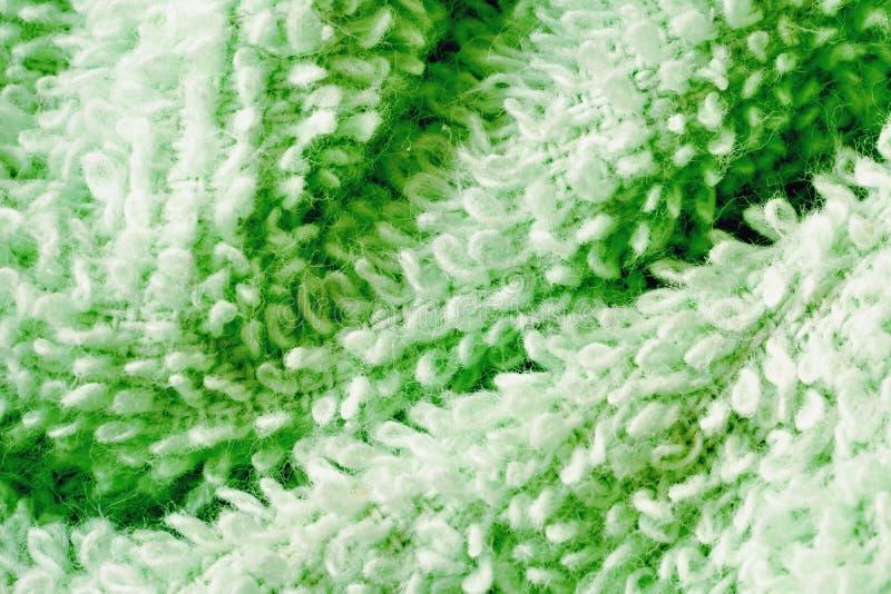 Зеленая предпосылка макроса хлопка Terry стоковое фото rf