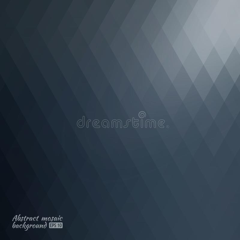 Зеленая предпосылка мозаики решетки, творческие шаблоны дизайна Текстурированная яркая полигональная картина влияние зарева иллюстрация штока