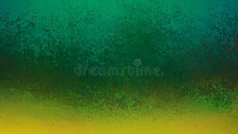 Зеленая предпосылка со старым дизайном границы золота grunge, сериями огорченной текстуры стоковое фото