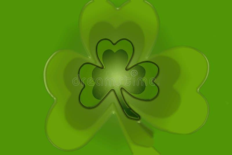 Зеленая предпосылка shamrock клевера для patricks d st стоковая фотография rf