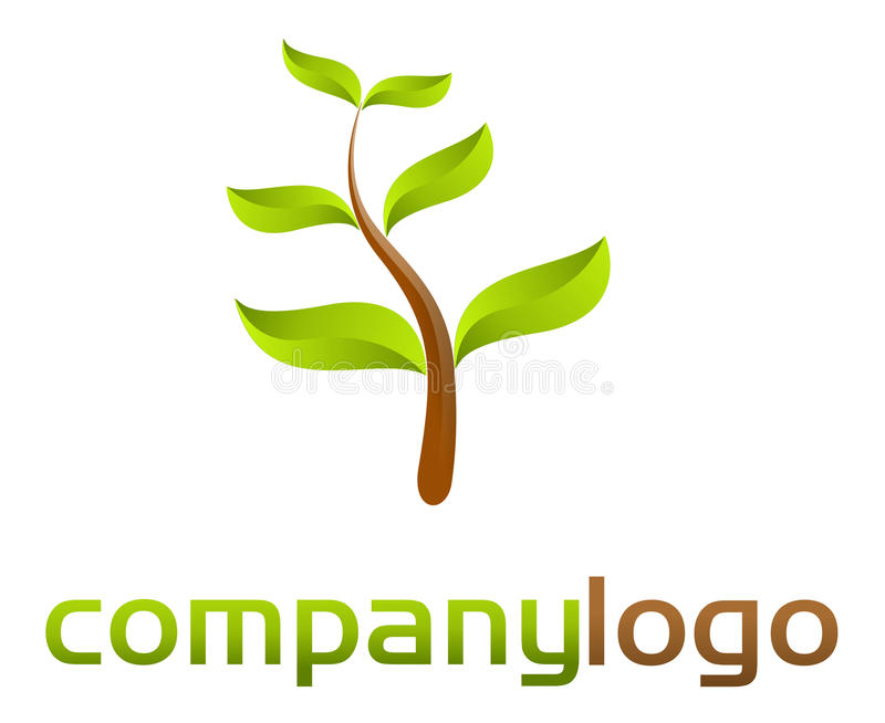 зеленая природа логоса иллюстрация штока
