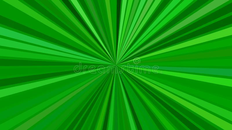 Зеленая психоделическая абстрактная предпосылка взрыва звезды от striped лучей иллюстрация штока
