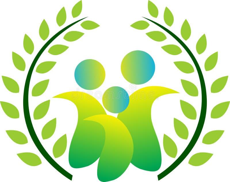 Зеленая семья бесплатная иллюстрация