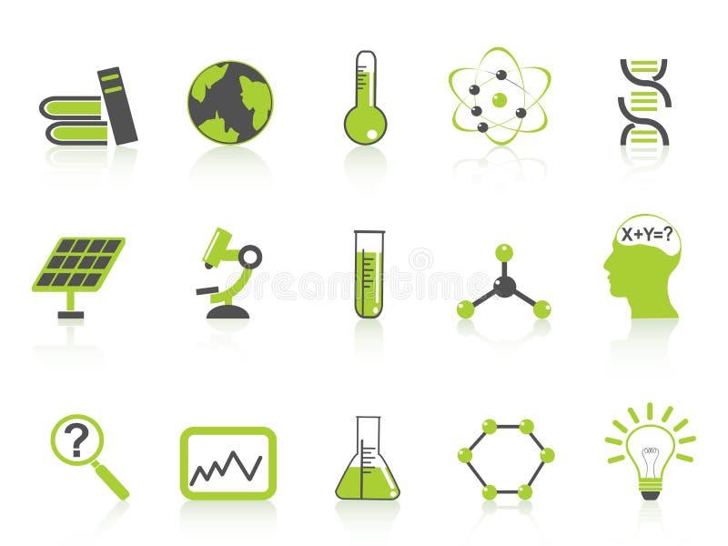 зеленая серия науки икон установила просто бесплатная иллюстрация