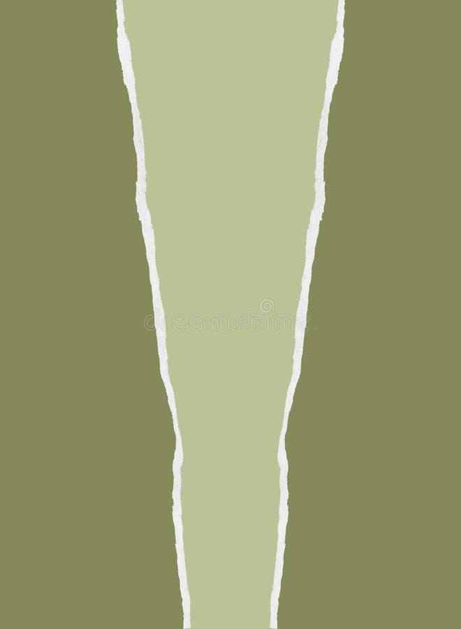 зеленая сорванная бумага иллюстрация штока