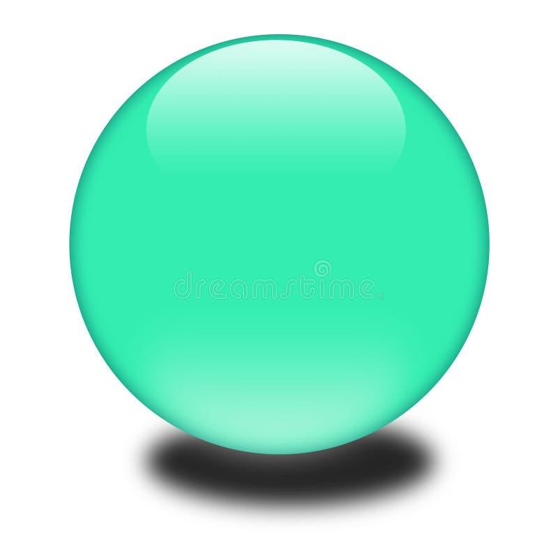 зеленая сфера 3d иллюстрация вектора
