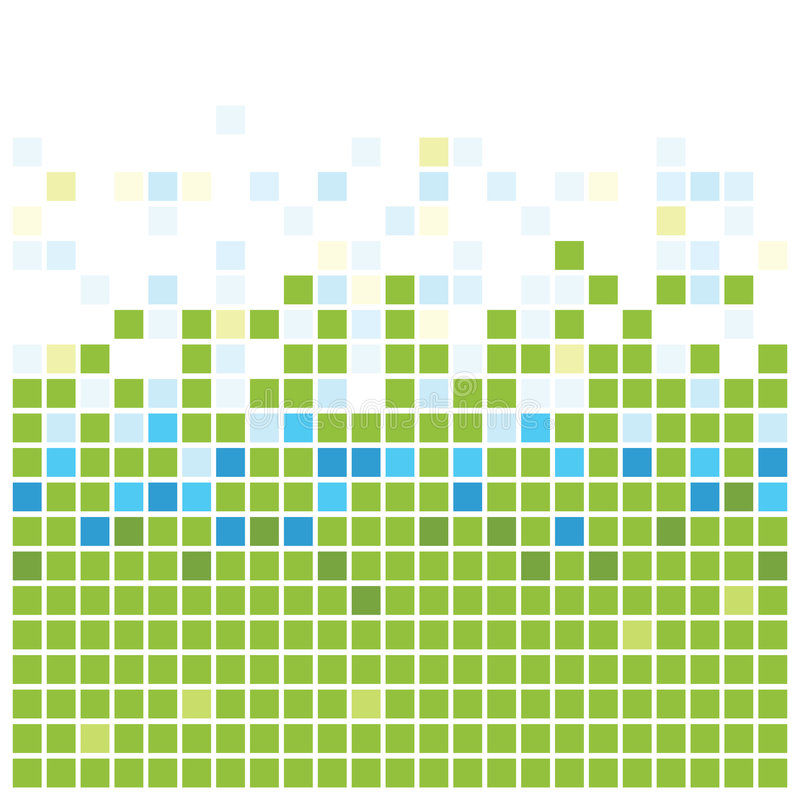 зеленая текстура квадратов иллюстрация вектора