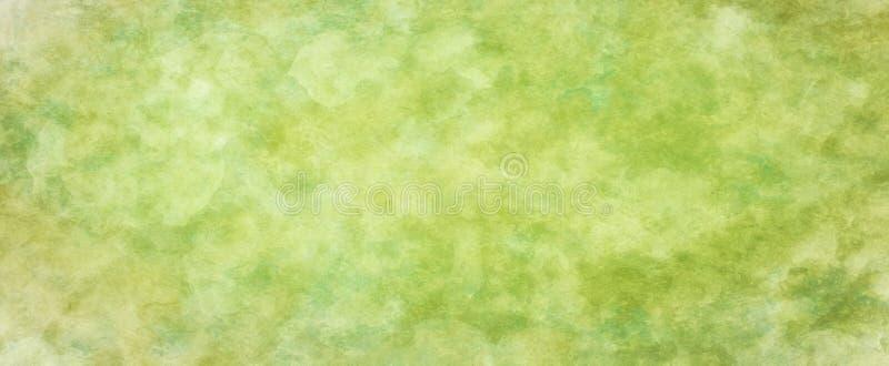 Зеленая текстура предпосылки с желтыми белыми бежевыми и зелеными цветами с испещрятьой старым винтажным картиной текстурированно иллюстрация штока