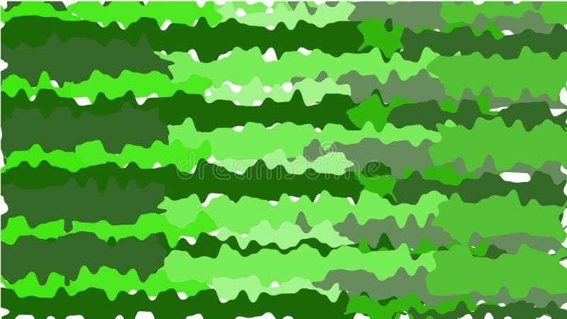 Зеленая текстура, простая предпосылка от minimalistic абстрактных пестротканых ярких помарок, пятен краски защитного хаки цвета V иллюстрация вектора