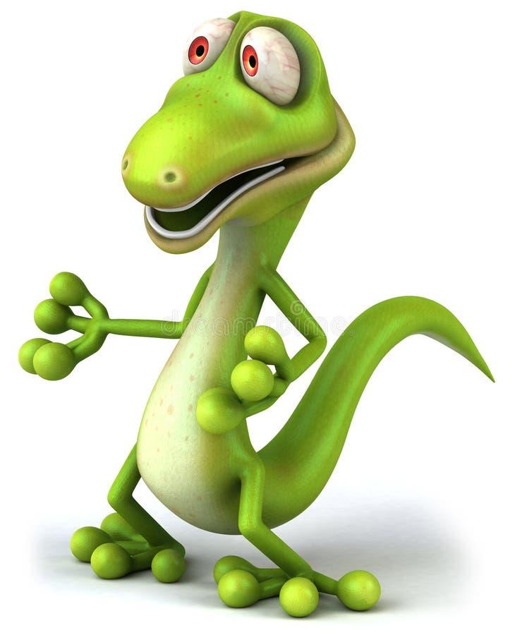 зеленая ящерица иллюстрация штока