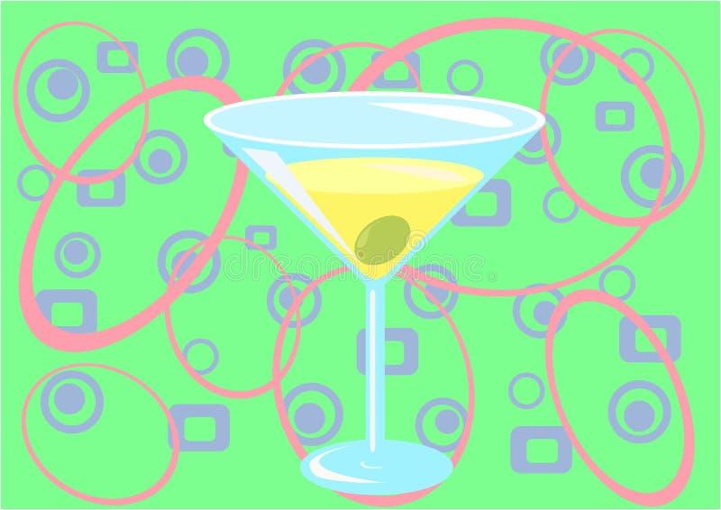 зеленое время martini иллюстрация вектора