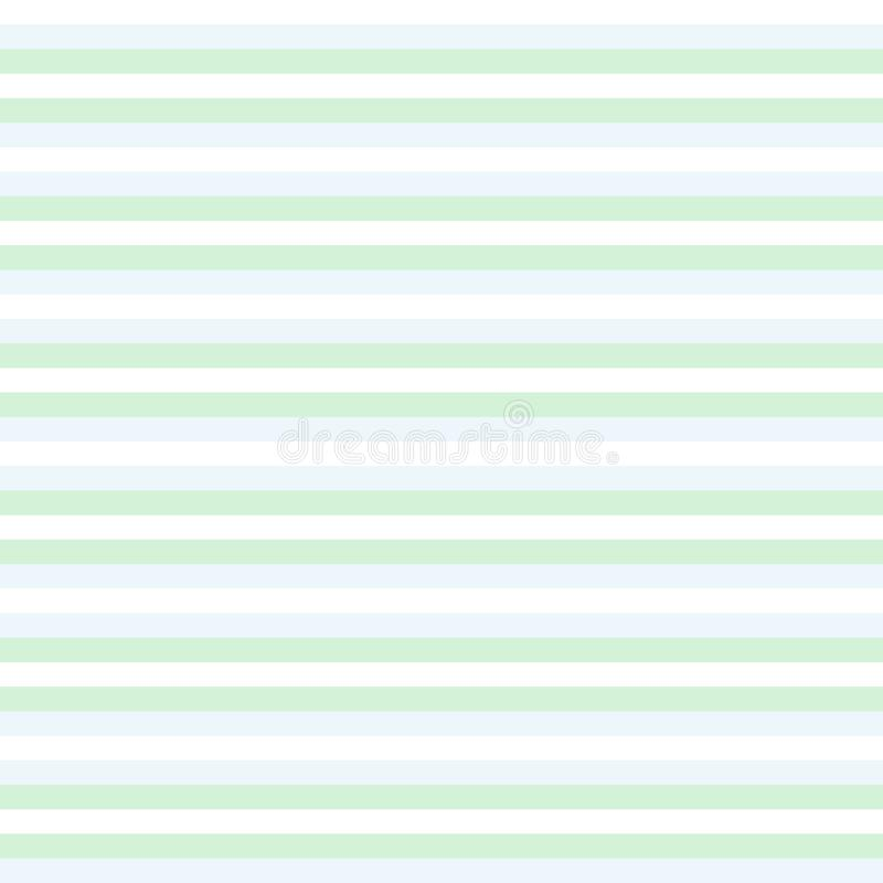 Зеленое и белое striped bacground, картина красочных нашивок безшовная - вектор иллюстрация вектора
