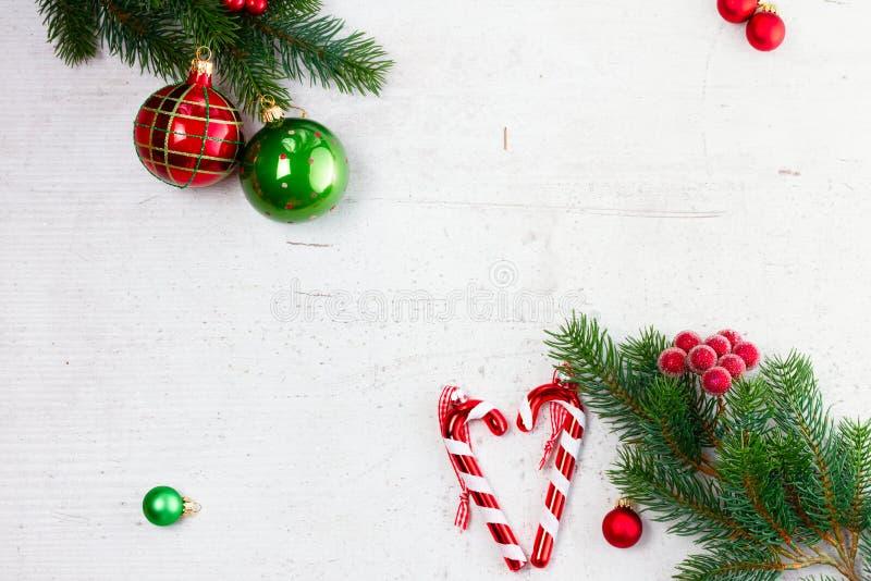 Зеленое и красное рождество стоковые фотографии rf