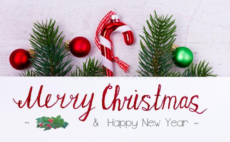 Зеленое и красное рождество стоковые изображения rf