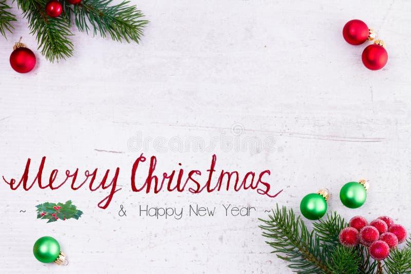 Зеленое и красное рождество стоковые фото