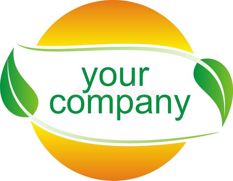 зеленое лето логоса иллюстрация штока