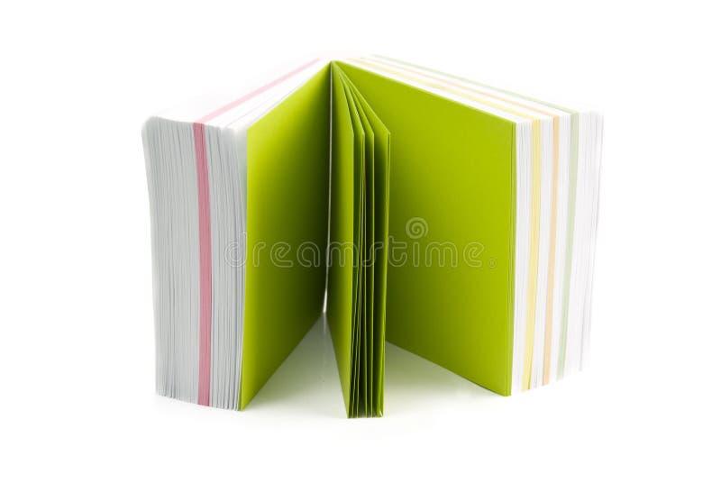 Зеленое липкое примечание стоковая фотография