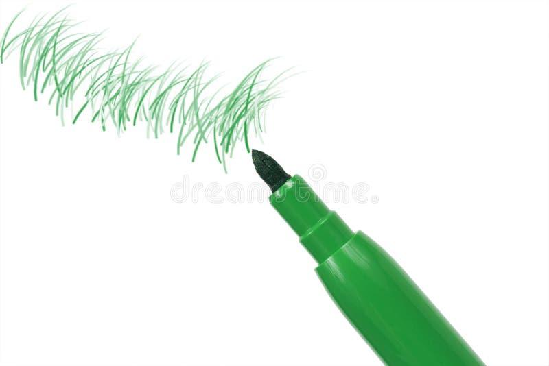 зеленое пер отметки стоковые изображения