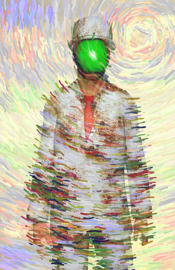 Зеленое яблоко иллюстрация штока