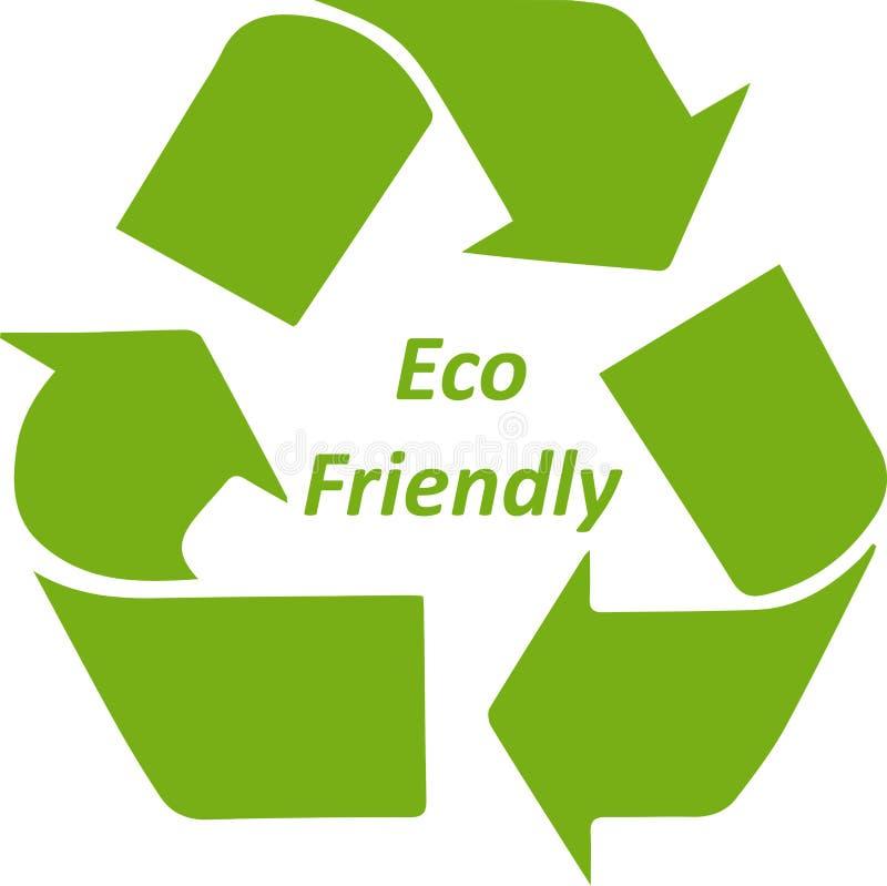 Зеленое Eco дружелюбное рециркулирует значок символа иллюстрация штока