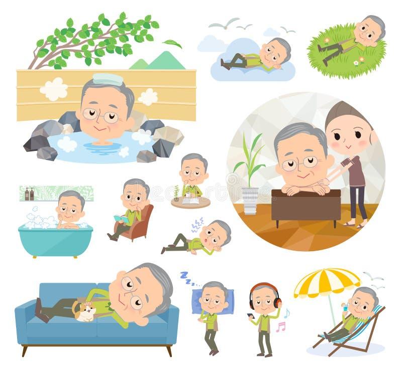 Зеленое grandfather_relax носки бесплатная иллюстрация
