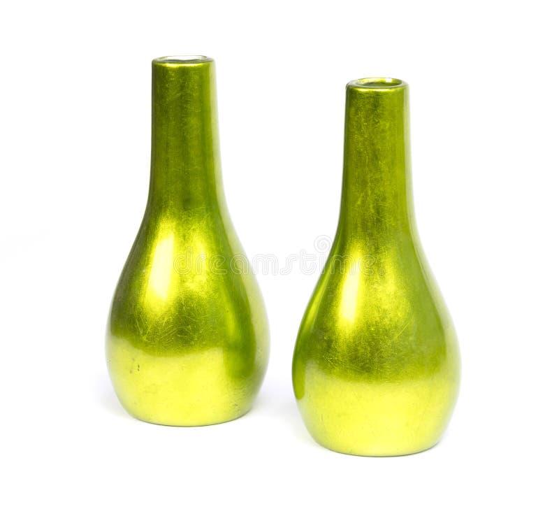 Зеленые вазы изолировали стоковое изображение rf