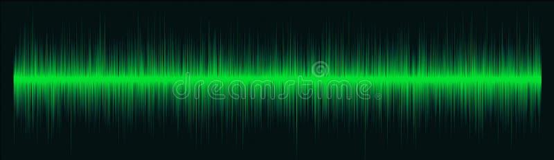 зеленые волны радио иллюстрация вектора