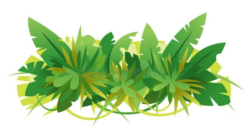 Зеленые джунгли выходят состав бесплатная иллюстрация