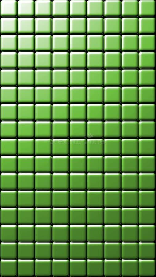Зеленые квадраты крыли текстуру черепицей иллюстрация вектора