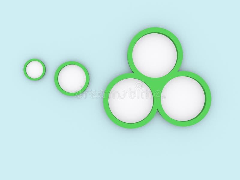 Зеленые круги на сини стоковое изображение
