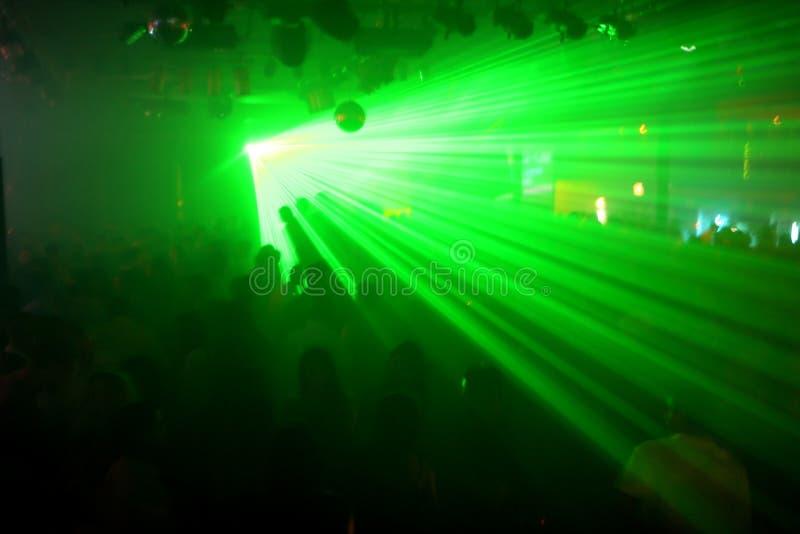 зеленые лазеры стоковая фотография