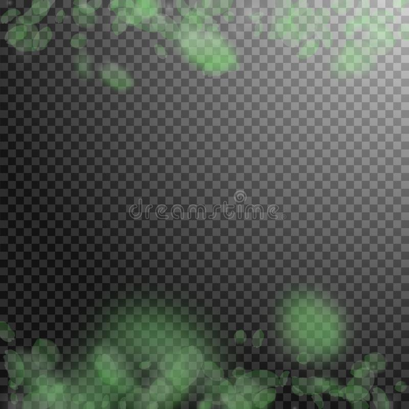 Зеленые лепестки цветка падая вниз Заколдовывать римский иллюстрация вектора