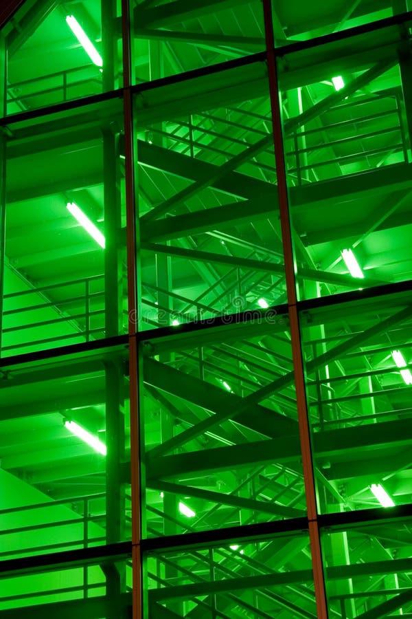 зеленые лестницы стоковая фотография rf
