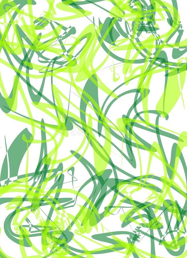 зеленые линии делают по образцу squiggly бесплатная иллюстрация
