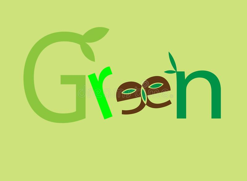 Зеленые логотип и вектор стоковое изображение