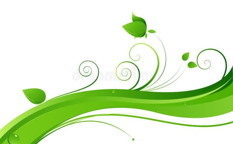 зеленые лозы иллюстрация вектора