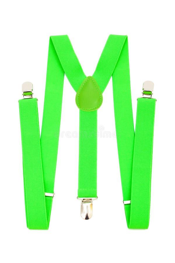 зеленые подтяжки стоковая фотография