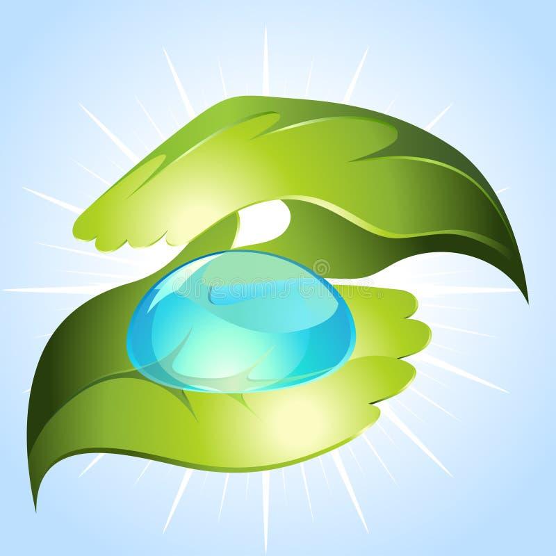 зеленые руки иллюстрация вектора