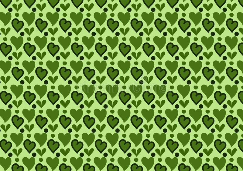 Зеленые сердца и обои картины кругов иллюстрация штока